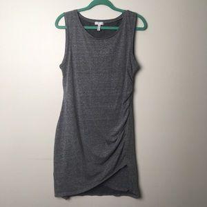 LEITH ANTHROPOLOGIE gray minimalist dress